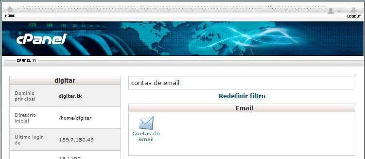 Como criar um site - Conta de e-mail