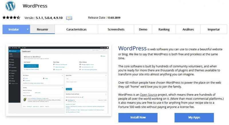 Como criar um site - Instalando o WordPress Inicio