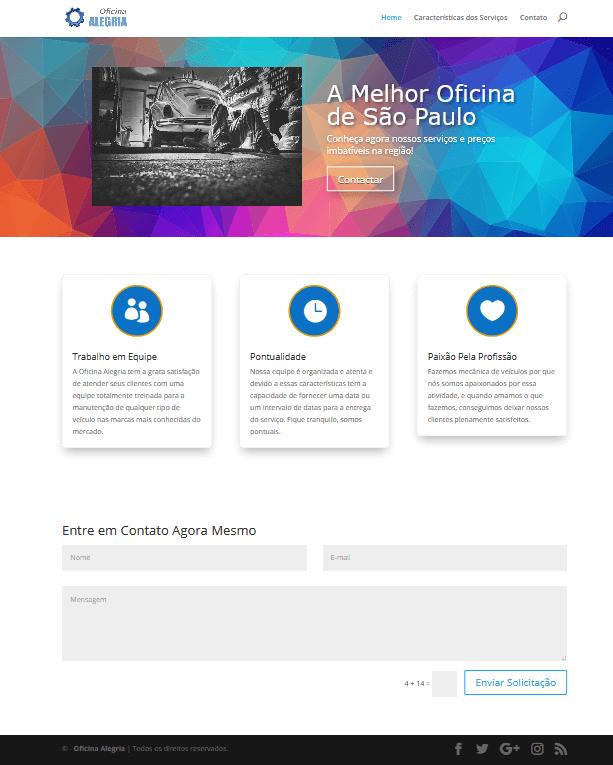 Prévia Final da Criação do Site